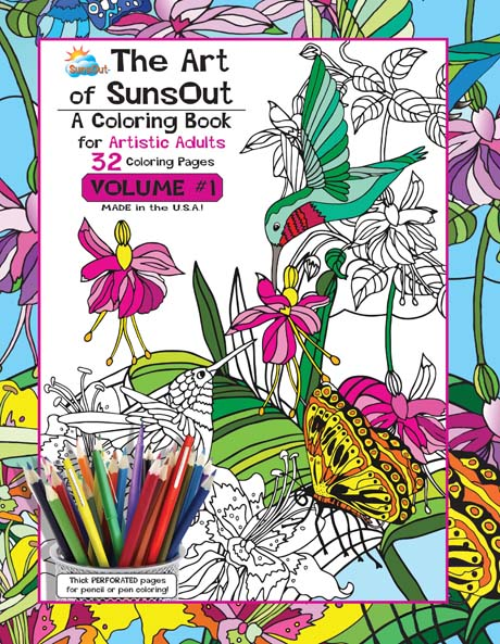 The Art of Sunsout Adult Coloring Book - Volume 1