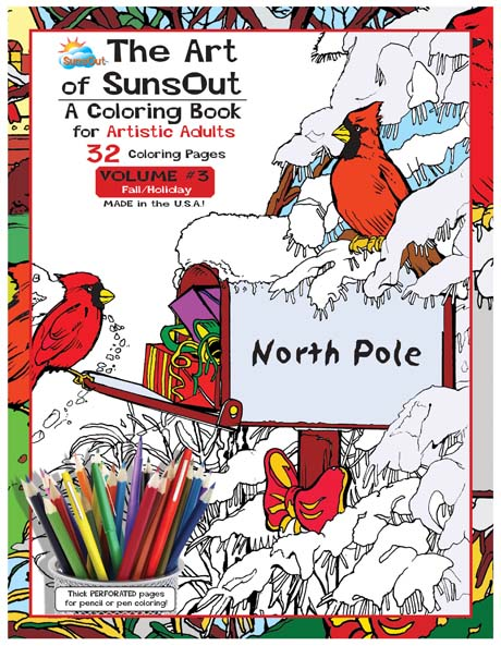The Art of Sunsout Adult Coloring Book - Volume 3 - Fall/Holiday