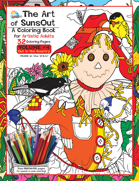The Art of Sunsout Adult Coloring Book - Volume 4 - Out in the Country