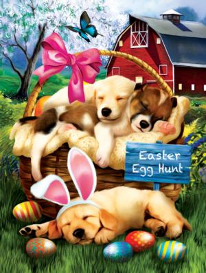 Sleepy Eyed Easter Egg Hunters