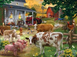 Gathering in the Farmyard 1000