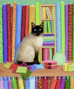 Quilt Shop Cat 1000