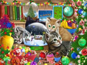 Snow Globe Kittens 1000