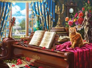 Grand Piano Cat