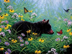 Black Bear and Butterflies 500