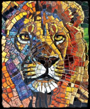 Stained Glass Lion 1000