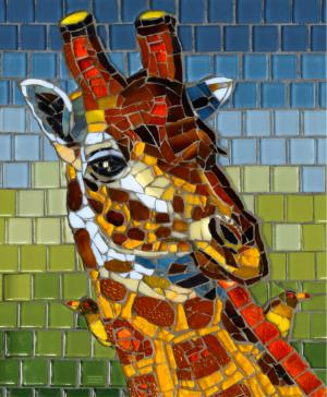 Stained Glass Giraffe 1000