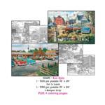 Ken Zylla Coloring Page/Puzzle Set