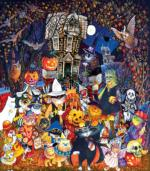 Cats and Dogs on  Halloween 300 pc