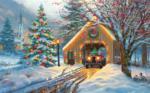 Covered Bridge at Christmas