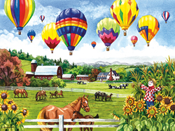 Balloons over Fields