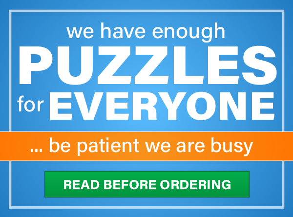 We have enough puzzles for everyone, but please be patient, we are busy!